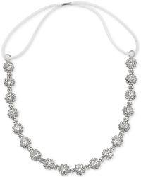 Badgley Mischka - Badgley Mischka Silver-tone Crystal Cluster Headband - Lyst