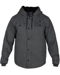 250e77649e6 Lyst - Hurley Men s Outdoor Hooded Jacket in Gray for Men