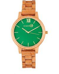 Earth Wood - Pike Wood Bracelet Watch Khaki-tan 45mm - Lyst