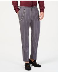 INC International Concepts - Slim-fit Pinstriped Chain Trousers, Created For Macy's - Lyst