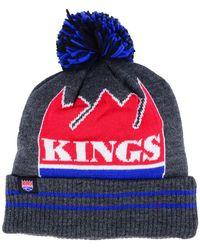 Mitchell & Ness - Sacramento Kings Black Heather Hi-5 Pom Knit - Lyst
