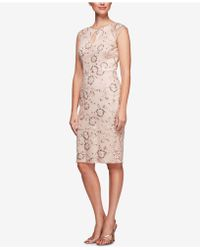 Alex Evenings - Sequined Embroidered Dress - Lyst