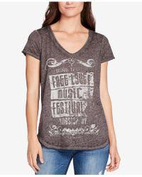 William Rast - Melange Graphic T-shirt - Lyst