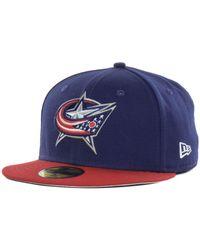 54b66f1a2 Lyst - KTZ Columbus Blue Jackets Jake Pom Knit Hat in Red for Men