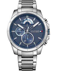 Tommy Hilfiger - Men's Cool Sport Stainless Steel Bracelet Watch 40mm 1791348 - Lyst