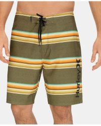 Hurley - Striped Board Shorts - Lyst