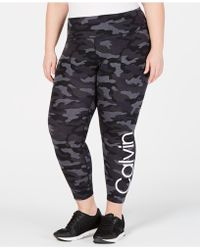 f2761391f9 Lyst - Calvin Klein Performance Plus Size Logo High-rise Leggings in ...