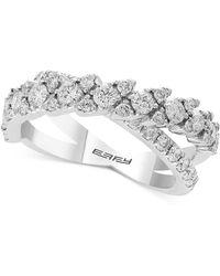 Effy Collection - Effy® Diamond Crisscross Ring (1-1/4 Ct. T.w.) Ring In 14k White Gold - Lyst
