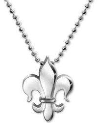 "Alex Woo - Fleur-de-lis 16"" Pendant Necklace In Sterling Silver - Lyst"