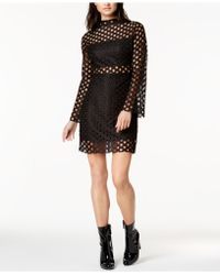 TWIIN | Mock-neck Lace Illusion Dress | Lyst