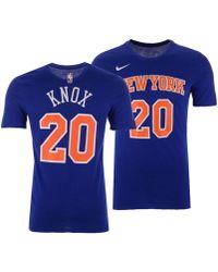 a982310682a Lyst - Nike Kristaps Porzingis New York Knicks City Player T-shirt ...