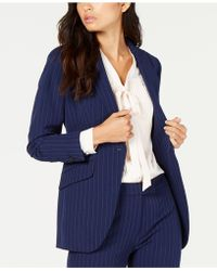 Anne Klein - Pinstripe One-button Blazer, Created For Macy's - Lyst