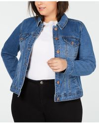 Style & Co. - Plus Size Basic Denim Jacket, Created For Macy's - Lyst