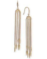 RACHEL Rachel Roy - Gold-tone Linear Rope Earrings - Lyst