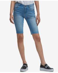 DKNY - Studded Denim Shorts, Created For Macy's - Lyst