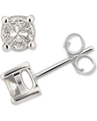 Macy's - Diamond Fancy Stud Earrings (1/2 Ct. T.w.) In 14k White Gold - Lyst