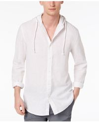 American Rag - Linen Hooded Shirt, Created For Macy's - Lyst