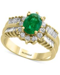 Effy Collection - Emerald (1-1/8 Ct. T.w.) And Diamond (7/8 Ct. T.w.) Ring In 14k Gold - Lyst