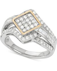 Wrapped in Love - Diamond Ring (1 Ct. T.w.) In 14k Gold And Sterling Silver - Lyst