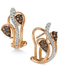 Le Vian - Diamond Vine Earrings (1/4 Ct. T.w.) In 14k Rose Gold - Lyst