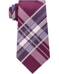 91b8fde12f43 Lyst - Kenneth Cole Reaction Men's Aquamarine Plaid Tie in Purple ...