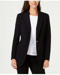 Anne Klein - Bi-stretch One-button Jacket, Created For Macy's - Lyst
