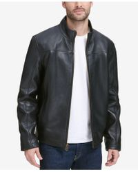 Cole Haan - Smooth Leather Jacket, Created For Macy's - Lyst