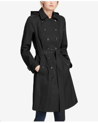 CALVIN KLEIN 205W39NYC - Petite Double-breasted Trench Coat - Lyst