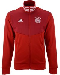 adidas - Bayern Munich Club Team 3 Stripe Track Jacket - Lyst