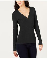 INC International Concepts - I.n.c. Petite Zipper Detail Pullover Jumper, Created For Macy's - Lyst