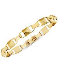 Michael Kors - Mercer Collection Sterling Silver Large Padlock Link Bracelet - Lyst