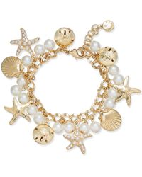 Charter Club - Gold-tone Imitation Pearl Sea Motif Bracelet, Created For Macy's - Lyst