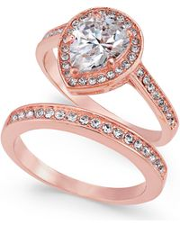 Charter Club - Rose Gold-tone 2-pc. Set Cubic Zirconia Teardrop Ring & Band, Created For Macy's - Lyst