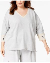 525 America - Plus Size Sequin-patch Sweatshirt, Created For Macy's - Lyst