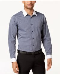 INC International Concepts - Striped Banker Shirt Shirt, Created For Macy's - Lyst