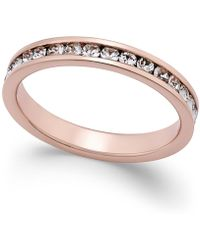 Giani Bernini - Cubic Zirconia Pavé Ring In 18k Rose Gold-plated Sterling Silver - Lyst