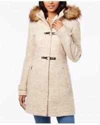 Ivanka Trump - Faux-fur-trim Hooded Coat - Lyst