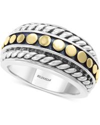Effy Collection - Effy® Two-tone Statement Ring In Sterling Silver & 18k Gold-plate - Lyst