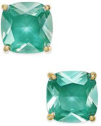 Kate Spade - Gold-tone Aqua Crystal Stud Earrings - Lyst