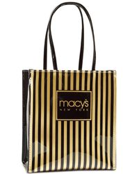 Macy's - Thin Striped Tote, Created For - Lyst