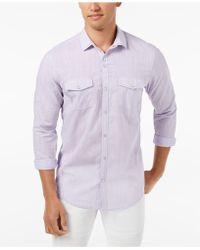 INC International Concepts - Textured Chambray Shirt, Created For Macy's - Lyst