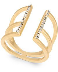 INC International Concepts - Gold-tone Pavé Open Ring - Lyst
