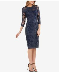 JS Collections - Embroidered Lace Sheath Dress - Lyst