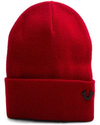 Lyst - True Religion Camo Watchcap Beanie in Red for Men a39e20e23330