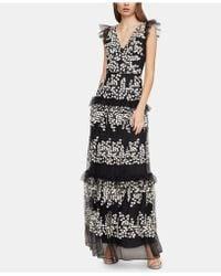 BCBGMAXAZRIA - Ruffled Tulle Dress - Lyst