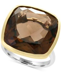 Effy Collection - Smoky Quartz Ring (20-1/5 Ct. T.w.) Ring In Sterling Silver & 18k Gold - Lyst