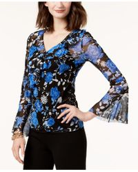 INC International Concepts - Petite Bell-sleeve Mesh Top, Created For Macy's - Lyst