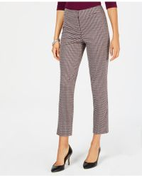 Nine West - Houndstooth Tapered Pants - Lyst