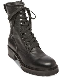7c5feac9d16 Lyst - Steve Madden Laurie Combat Boot in Black