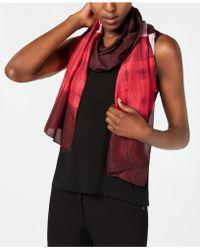 Eileen Fisher - Printed Silk Scarf - Lyst